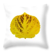 Brown And Yellow Aspen Leaf 3 Throw Pillow
