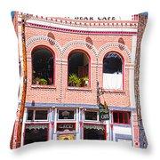 Brown Bear Cafe Silverton Colorado Throw Pillow