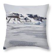 Brown Bluff, Antarctica Throw Pillow