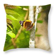 Brown Butterfly 2 Throw Pillow