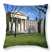 Brown Campus Manning Hall Throw Pillow