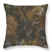 Brown Color Of Energy Throw Pillow by Ania Milo