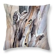 Brown Creeper Throw Pillow