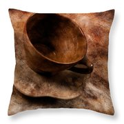 Brown Cup  Throw Pillow