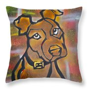 Brown Dog Throw Pillow