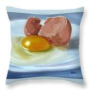 Brown Egg Study Throw Pillow