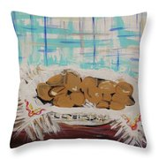 Brown Eggs In A Basket Throw Pillow