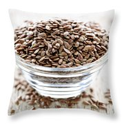 Brown Flax Seed Throw Pillow