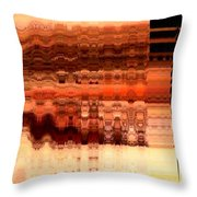Brown Throw Pillow by Francoise Leandre