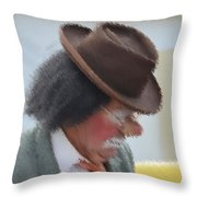 Brown Hat Throw Pillow