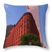 Brown Palace Hotel In Denver Colorado Throw Pillow