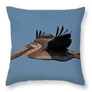 Brown Pelican Pelecanus Occidentals  Photo By Pat Hathaway 2007 Throw Pillow