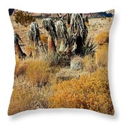 Brown Ridge Line Throw Pillow