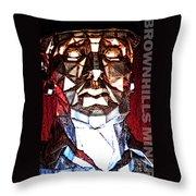 Brownhills Miner Face Throw Pillow