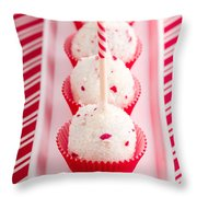 Brownie Peppermint Cake Pops Throw Pillow