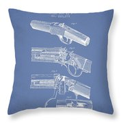 Browning Rifle Patent Drawing From 1921 - Light Blue Throw Pillow