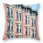 Brownstone Art Hoboken Nj Throw Pillow
