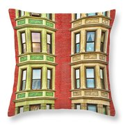 Brownstone Beauty Throw Pillow