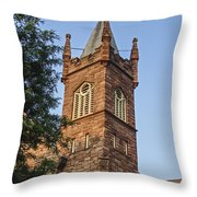 Brownstone Church Throw Pillow