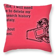 Browser Search History Throw Pillow