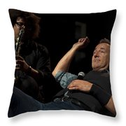 Bruce And Jake At Greasy Lake Throw Pillow by Jeff Ross