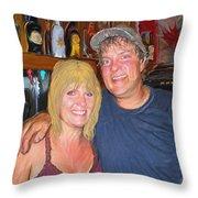 Bruce And Joy Throw Pillow