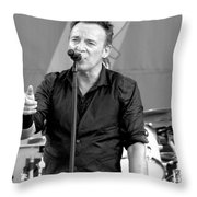 Bruce Springsteen 13 Throw Pillow