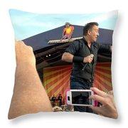 Bruce Springsteen 15 Throw Pillow