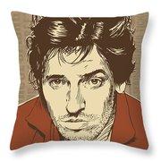 Bruce Springsteen Pop Art Throw Pillow