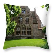 Bruges Building Throw Pillow