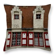 Bruges Houses Throw Pillow