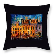 Bruges Throw Pillow by Leonid Afremov