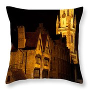 Brugge Architecture Throw Pillow