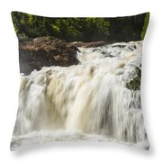Brule River Upper Falls 1 Throw Pillow