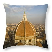 Brunelleschi's Dome At The Basilica Di Santa Maria Del Fiore Throw Pillow