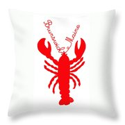 Brunswick Maine Lobster With Feelers 20130605 Throw Pillow