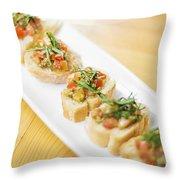 Bruschetta Italian Starter Dish Throw Pillow