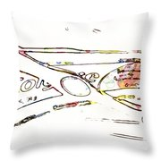 Brush And Paste Throw Pillow
