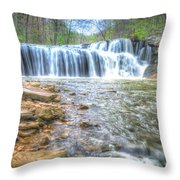 Brush Creek Falls Located In West Virginia Throw Pillow