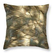 Brushed Metal  Throw Pillow