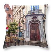 Brussels Cafe Throw Pillow