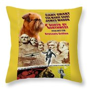 Brussels Griffon Art - North By Northwest Movie Poster Throw Pillow