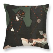 Brutality Of Policemen, Illustration Throw Pillow