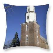 Bruton Parish Church In Colonial Williamsburg Throw Pillow