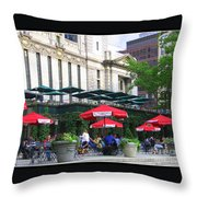 Bryant Park At Noon Throw Pillow by Dora Sofia Caputo Photographic Art and Design