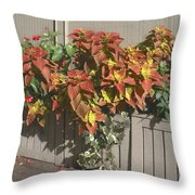 Bryant Park In September 3 Throw Pillow by Muriel Levison Goodwin