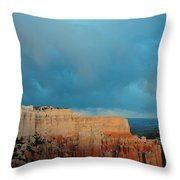 Bryce Canyon And Stormy Sky Throw Pillow