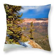 Bryce Canyon Cliff Shot 4 Throw Pillow