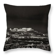 Bryce Canyon Formations In Black And White Throw Pillow