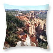 Bryce Canyon Hoodoos Landscape Throw Pillow